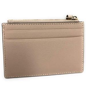 KATE SPADE ADI LEATHER CARD WALLET COIN (ALMOND)